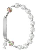 McVan White Pearl I.D. Rosary Bracelet