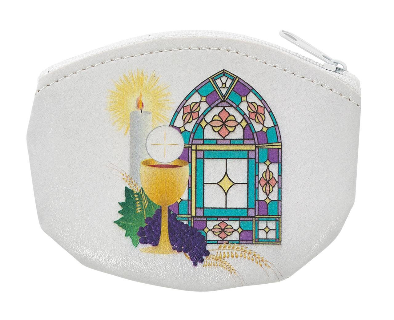 McVan White Communion Rosary Pouch