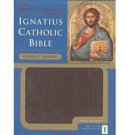 Ignatius Press Ignatius Compact Bible with Zipper in Burgundy Leather