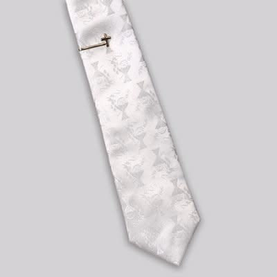 Roman, Inc First Communion White Tie And Gold Cross Tie Bar Gift Set