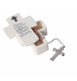 Roman, Inc This is The Day Cross Shaped Keepsake Box