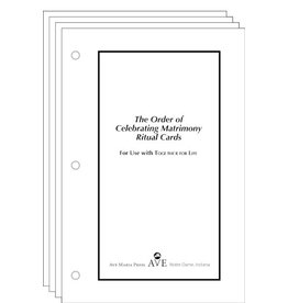 Ave Maria Press The Order of Celebrating Matrimony Cards