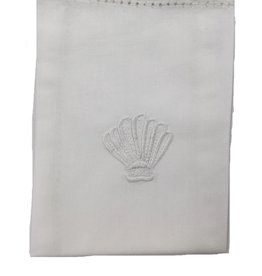 MDS 100% Cotton Baptism Napkin with Embroidered Shell