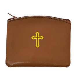 McVan Brown Leather Rosary Pouch
