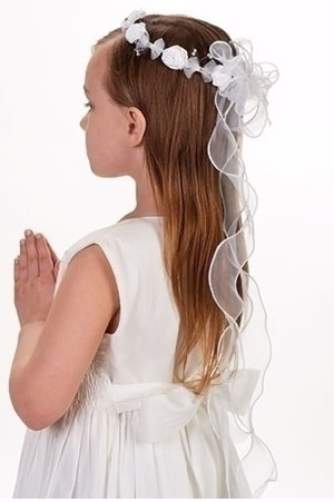 "Roman, Inc Anna Communion Veil with Headband (26"")"