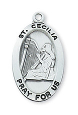 McVan Sterling Silver St. Cecilia Medal
