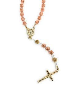 Artisan Jewelry Rosaries Peach Rosary Artisan Heirloom Collection