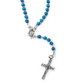 Artisan Jewelry Rosaries Imitation Turquoise Rosary Artisan Heirloom Collection
