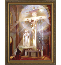 """Nelsons Fine Art and Gifts Last Vision of Fatima Framed Art (12"""" x 16"""")"""