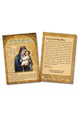 Stubenville Press Card Explaining Brown Scapular of Our Lady of Mount Carmel