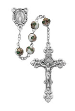McVan 7mm Genuine White Cloisonne Bead Rosary