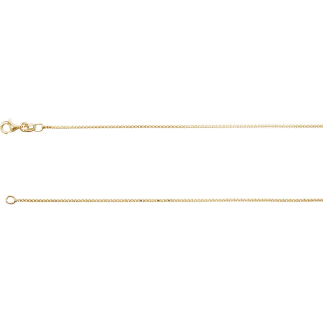 "Stuller 18K Yellow Vermeil Diamond Cut Box 18"" Chain"
