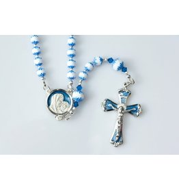 """Artisan Jewelry Rosaries 15.5"""" Blue Cathedral Rosary"""