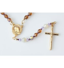 Artisan Jewelry Rosaries Purple Sand Rosary