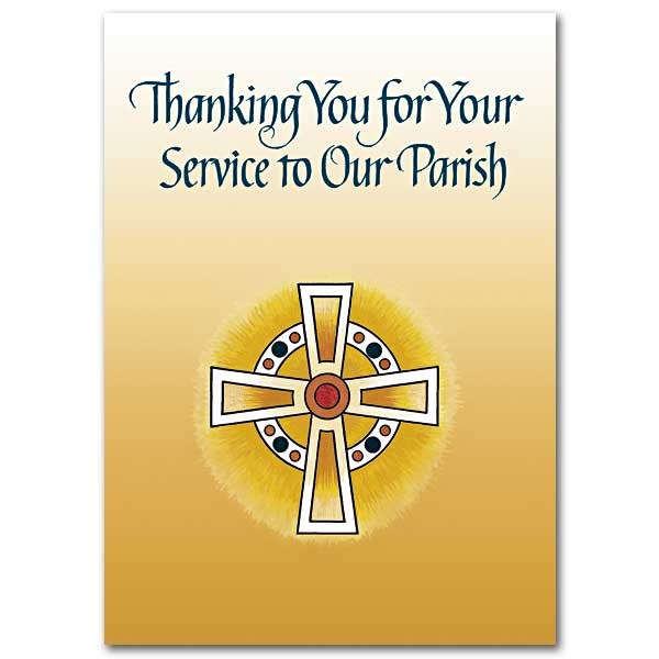 The Printery House Thanking You for Your Service to Our Parish Priest Appreciation Card