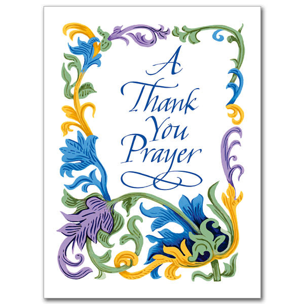 The Printery House A Thank You Prayer