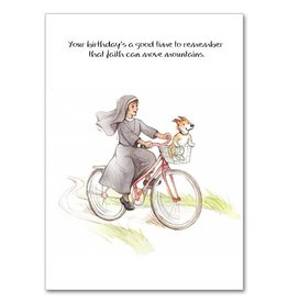 The Printery House Faith Can Move Mountains Humorous Birthday Card