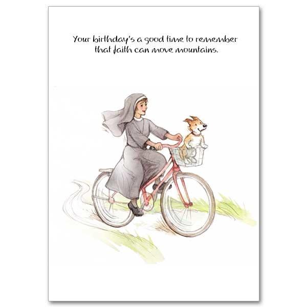 The Printery House Faith Can Move Mountains Humorous Birthday Card