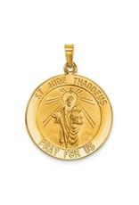 14k Saint Jude Medal Pendant