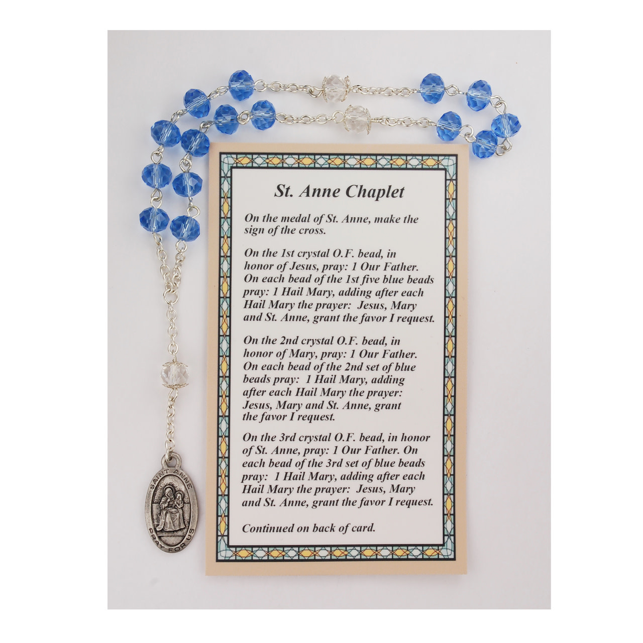 McVan St. Anne Chaplet with Card