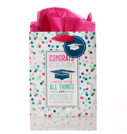 Christian Art and Gifts With God All Things Are Possible Gift Bag