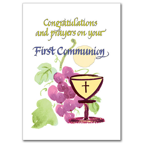 The Printery House Congratulations and prayers on your First Communion Card