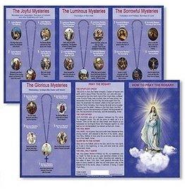 Ambrosiana How to Pray The Rosary Trifold Card