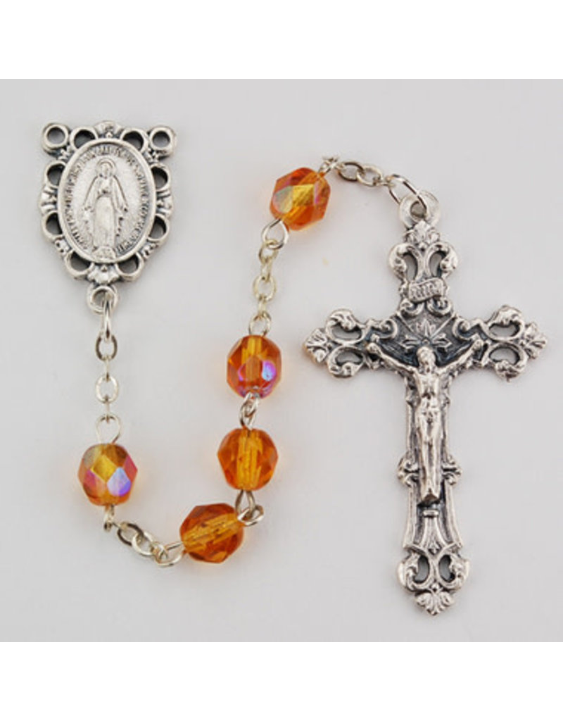 McVan 6mm Aurora Borealis Birthstone Rosary