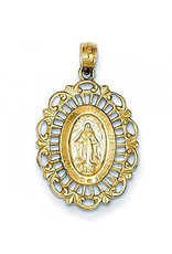 Wallace Brothers Manufacturing 14Kt Yellow Gold Medium Fancy Miraculous Medal