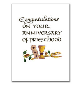The Printery House Congratulations on Your Anniversary of Priesthood Ordination Anniversary Card