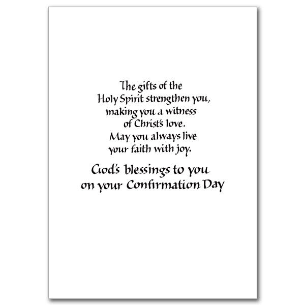"The Printery House ""Receive the Holy Spirit"" Confirmation Greeting Card"