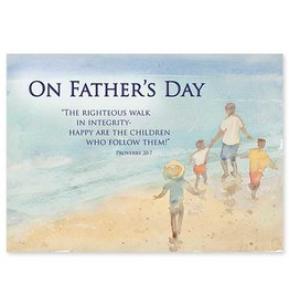The Printery House The Righteous Walk in Integrity Father's Day Card