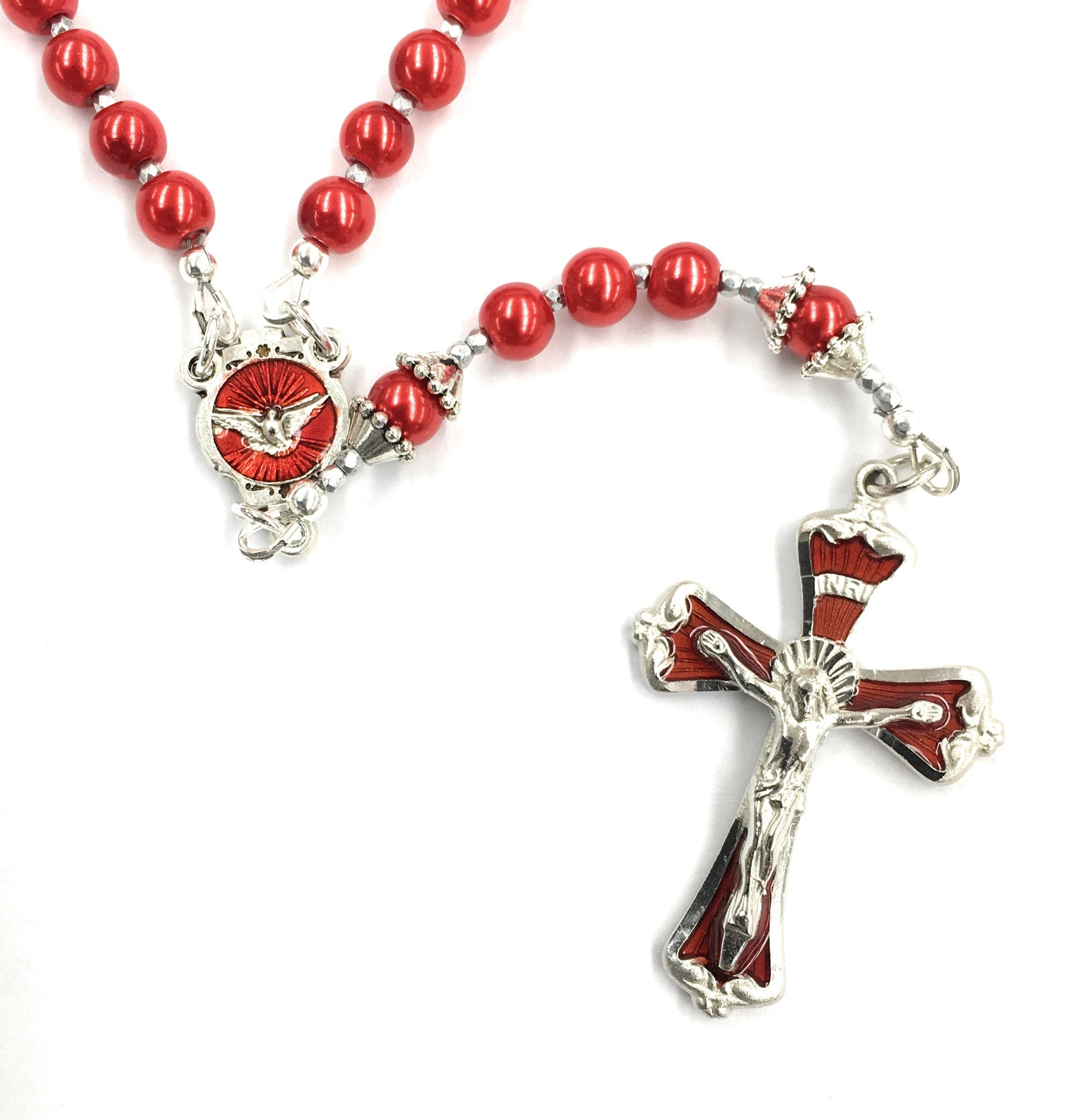 Artisan Jewelry Rosaries Confirmation Red Rosary