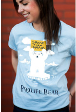 Romantic Catholic Prolife Bear T-shirt Large