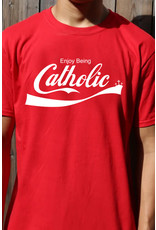 Romantic Catholic Enjoy Being Catholic T-Shirt Large