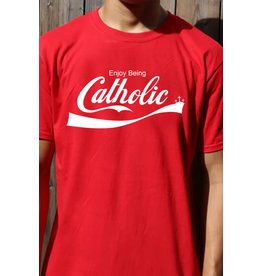 Romantic Catholic Enjoy Being Catholic T-Shirt Large