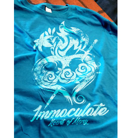 Romantic Catholic Immaculate Heart of Mary T-Shirt Small