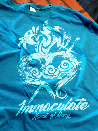 Romantic Catholic Immaculate Heart of Mary T-Shirt Medium