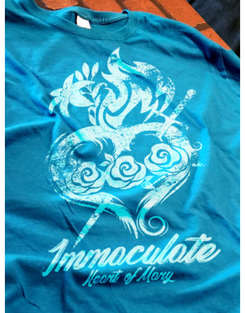 Romantic Catholic Immaculate Heart of Mary T-Shirt Large