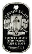 Symbol Arts Christian Soldier Dog Tag