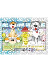 Vermont Christmas Company Color Your Own Best Friends Puzzle (300 Pieces)