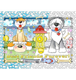 Vermont Christmas Company Color Your Own Best Friends Puzzle (300 Pieces)