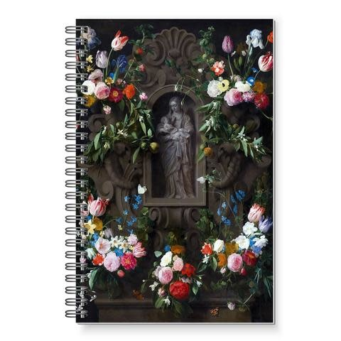 Full of Grace USA Garland of Marian Procession Flowers Writing Journal