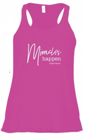 Pio Prints Miracles Happen, Pope Francis, Tank (Large)