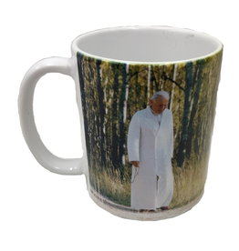 Nelson Fine Art Pope John Paul II Walking Rosary Mug