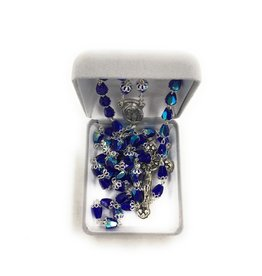 Singer Sapphire Tear Drop Capped Bead Rosary
