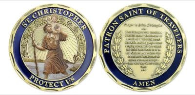 FunYan Christopher Patron Saint of Travelers Coin
