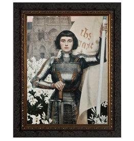 Nelson Fine Art St. Joan of Arc by Albert Lynch - Ornate Dark Framed Art