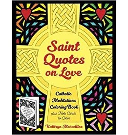 Abundant Life Pubishing Saint Quotes on Love Catholic Meditations Coloring Book: Plus Note Cards to Color