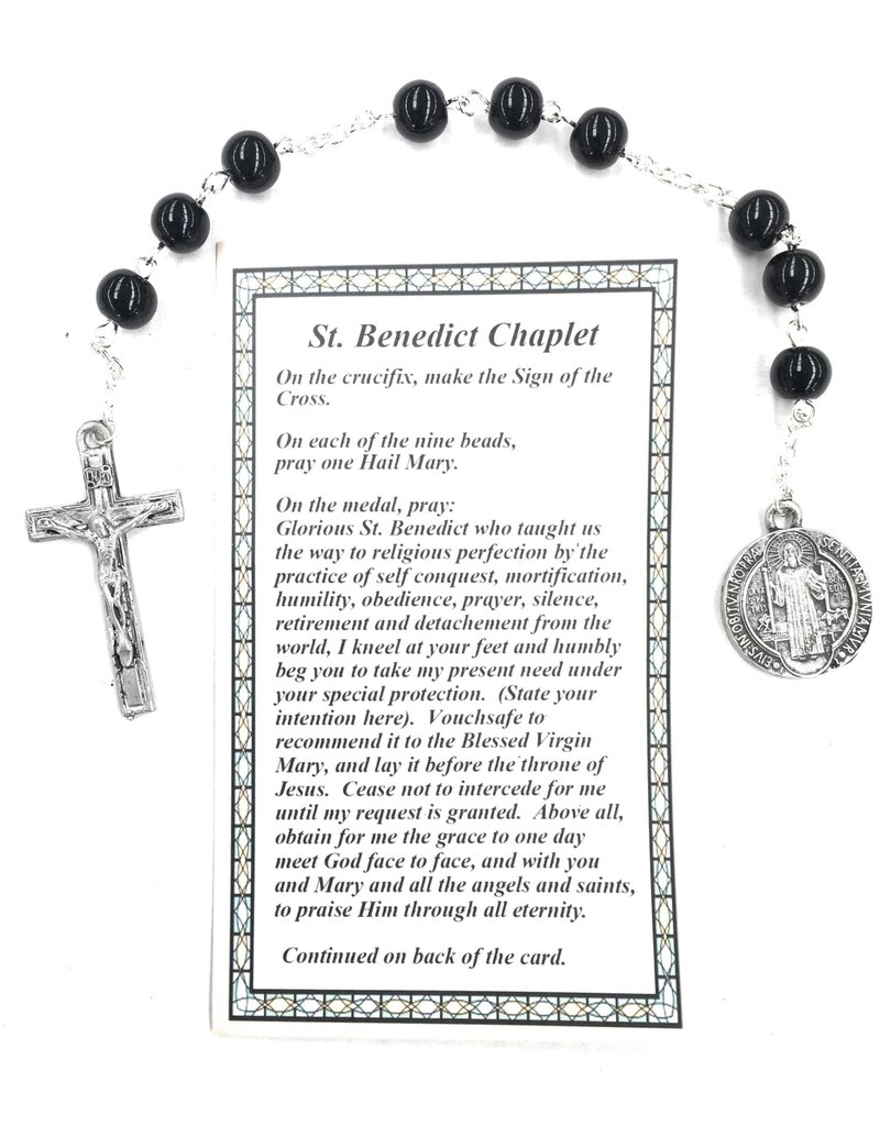 McVan St. Benedict Chaplet with Card